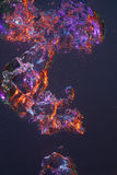 Swirling colored bubbles Stock Photo