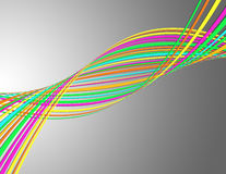 Swirling colorful lines Stock Images