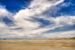 Swirling desert clouds Royalty Free Stock Images