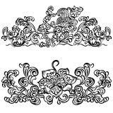 Swirling floral pattern, design ornament floral mo Stock Images