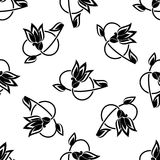 Swirling floral seamless pattern Stock Photo