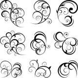 Swirling flourishes Stock Images