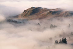 Swirling fog in the Lake District Stock Photos