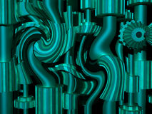 Swirling gears Stock Photography