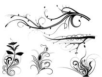 Swirling graphic elements Royalty Free Stock Photo