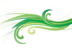 Swirling green ecological design Royalty Free Stock Image