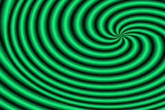 Swirling Green Stripes Stock Photos