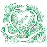 Swirling heart decorative Ecology design Royalty Free Stock Photo