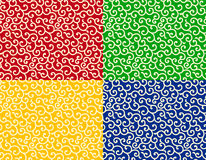 Swirling japanese pattern Royalty Free Stock Photo