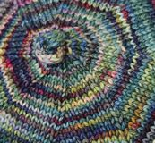 Swirling Knitting Royalty Free Stock Images