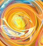 Orange Color Whirlpool Royalty Free Stock Photography
