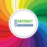 Swirling rainbow background with place for text. Twirling rainbow background design with circle  shape for text Royalty Free Stock Images