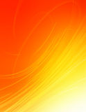 Swirling rays. Yellow and red swirling background with a high-tech feel Royalty Free Stock Photos