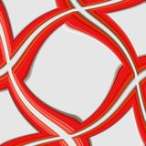 Swirling red 3d frame Stock Images