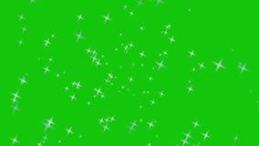 Swirling, rotating stars green screen