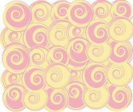 Swirling round. Pink and beige round swirly balls background Stock Photography