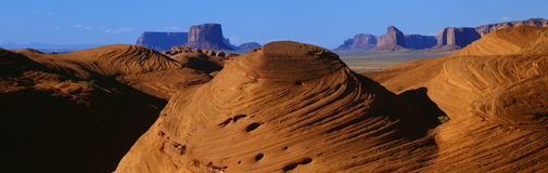 Swirling Sandstone Formations, Monument Valley, Arizona Royalty Free Stock Image