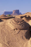 Swirling Sandstone Rock Formation, Monument Valley, Arizona Stock Photography