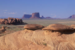 Swirling Sandstone Rock Formations, Monument Valley, Arizona Stock Images