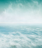 Swirling Sea and Fog Royalty Free Stock Photography
