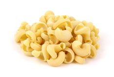 Swirling Shaped Pasta Front View Royalty Free Stock Photos