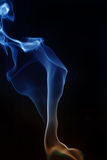 Swirling smoke from the incense on a homogeneous background. Swirling smoke from the incense on a background stock photo
