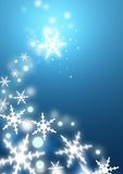 Swirling Snowflakes. Gentle snowflakes blowing into swirls vector illustration