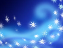 Swirling Snowflakes Royalty Free Stock Photography