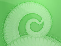Swirling spiral fronds abstract Stock Image