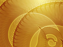 Swirling spiral fronds abstract Stock Images