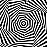 Swirling, spiraling monochrome geometric element. Abstract graph. Ic. - Royalty free vector illustration Royalty Free Stock Photo