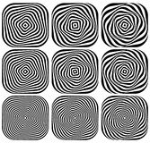 Swirling, spiraling monochrome geometric element. Abstract graph. Ic. - Royalty free vector illustration Stock Photography
