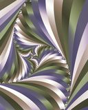 Swirling stripes. Abstract fractal image of swirling stripes Royalty Free Stock Photography