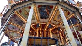 Beautiful vintage carousel stock footage