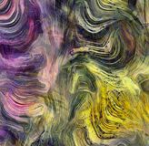 Abstract Colors Motion. Swirling Vivid Colors Abstract Painting Royalty Free Stock Image