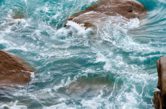 Swirling waters of the sea surface Stock Photography