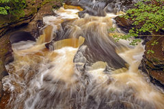 Swirling Waters on a Secluded River Stock Image