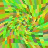 Swirling yellow-green rectangles. Raster. Royalty Free Stock Photos