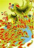 Swirls. Digital abstract art colorful swirls Stock Image