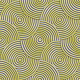 Swirls. A seamless pattern of 3D swiling shapes. Concemtric ridges make circular patterns Royalty Free Stock Photography