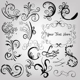 Swirls And Floral Ornaments Royalty Free Stock Image