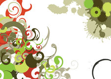 Swirls Background. Vector swirls on a white background with grunge elements Stock Photo
