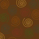 Swirls Background. A background pattern of swirls in fall colors Royalty Free Stock Photos