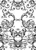 Swirls - black on white. Swirls and scrolls lace background Stock Photos