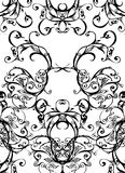 Swirls - black on white Royalty Free Stock Photography