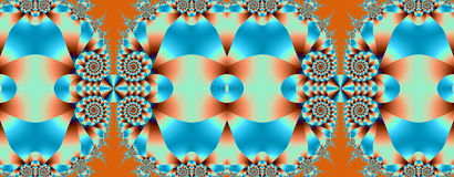 Swirls in blue and orange. This banner / header has beautiful spiral designs and other decorative shapes in blue and orange tones Royalty Free Stock Photography