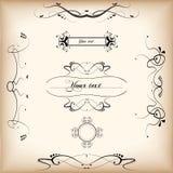 Swirls. Calligraphic design elements and decoration Royalty Free Stock Image