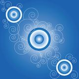 Swirls circles concept abstract background Royalty Free Stock Photos
