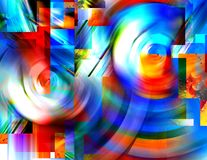 Swirls of Color Stock Images