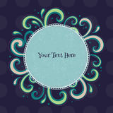Swirls colorful vintage background. Royalty Free Stock Photo